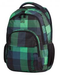 Plecak szkolny młodzieżowy COOLPACK BASIC w zieloną kratę OXFORD 493 (59473)
