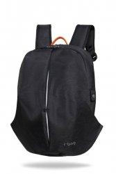 Plecak męski na laptopa 13-15,6'' z USB Kick Black Czarny R-Bag (Z091)