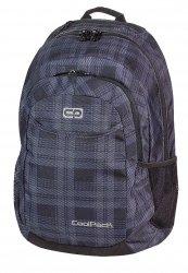 Plecak szkolny młodzieżowy COOLPACK URBAN czarny w szarą kratkę DERBY 371 (62978)