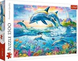 TREFL Puzzle 1500 el. Rodzina Delfinów (26162)
