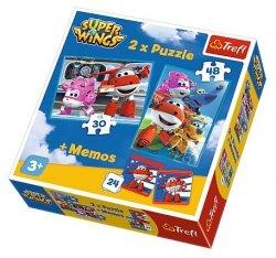 Puzzle 2w1 + memo Trefl, Super Wings, Podniebni bohaterowie (90635)