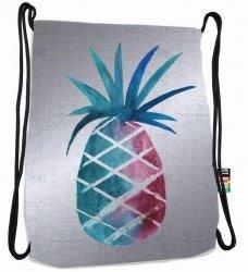 Plecak Worek na sznurkach srebrny ananas, SILVER ANANAS ST.RIGHT SO11 (19878)