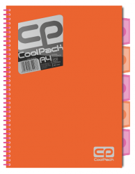 Kołobrulion kołozeszyt A4 200 stron POMARAŃCZOWY NEON COOLPACK (52078)