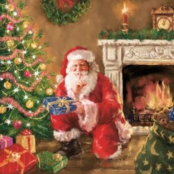 Serwetki świąteczne bożonarodzeniowe MIKOŁAJ Maki (SLGW019001)