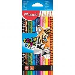 Kredki ołówkowe Colorpeps Animals 12 kolorów MAPED (22122)