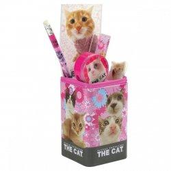 Zestaw przyborów szkolnych w puszce The Cat (ZPSPTK13)