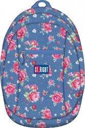 Plecak młodzieżowy, wycieczkowy ST.RIGHT niebieski w różowe kwiaty GARDEN BP09 (13067)