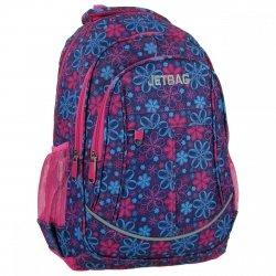 Plecak szkolny młodzieżowy JETBAG KWIATY (PLJ16E08)