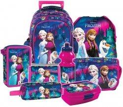 Plecak szkolny na kółkach FROZEN KRAINA LODU, licencja Disney (PL15KKL24SET8CZ) ZESTAW 8 el.