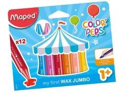 Kredki Colorpeps świecowe Jumbo 12 kolorów MAPED (13114)