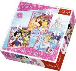 TREFL Puzzle 3 w 1 Zaczarowany świat KSIĘŻNICZEK (34833)