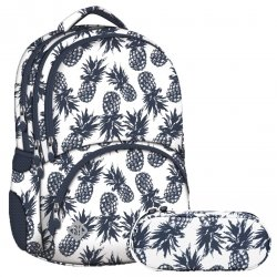 ZESTAW 2 el. Plecak szkolny młodzieżowy ST.RIGHT w ananasy, PINEAPPLES BP7 (21734SET2CZ)