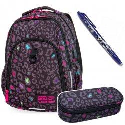 Plecak szkolny 27L STRIKE L Coolpack BLACK PANTHER + PIÓRNIK + FRIXION (B18044SET)