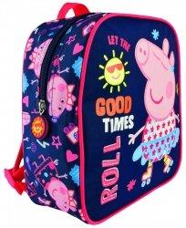 Plecak przedszkolny Świnka Peppa na rolkach wycieczkowy (73882)