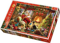 TREFL Puzzle 1000 el. Święty Mikołaj Odpoczynek przy kominku (10432)