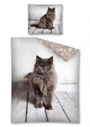 Pościel bawełniana CAT Kotek 160 x 200 cm komplet pościeli (2924)