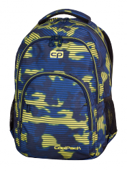 Plecak szkolny młodzieżowy COOLPACK BASIC granatowo - żółte moro, NAVY HAZE 936 (70188)