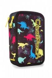 Piórnik CoolPack potrójny z wyposażeniem JUMPER 3 dinozaury, DINOSAURS (97543)