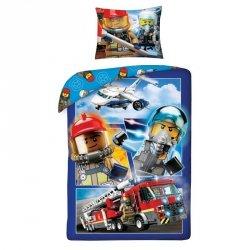 Pościel bawełniana LEGO CITY 140 x 200 cm (LEGO-822)