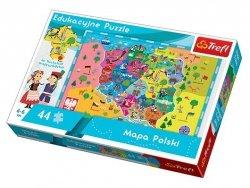 TREFL Puzzle Edukacyjne 44 el. Mapa Polski (15501)