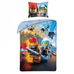 Pościel bawełniana LEGO CITY 140 x 200 cm (LEGO-823)