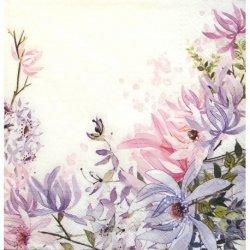 Serwetki dekoracyjne For All Woman KWIATY 33x33 cm (SDL084300)