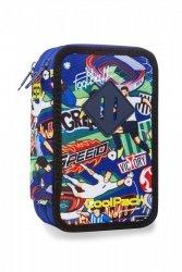Piórnik CoolPack potrójny z wyposażeniem JUMPER 3 w kolorową kreskówkę, FOOTBALL CARTOON (B67036)