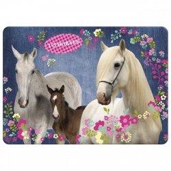 Podkładka laminowana I LOVE HORSES Konie (PLAKO02)