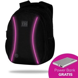 Plecak CoolPack LED JOY L czarny z różowymi dodatkami PINK (B81312)