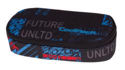 Piórnik szkolny COOLPACK CAMPUS niebiesko - czerwone wzory, UNDERGROUND 838 (75695)