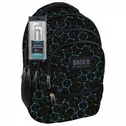 Plecak szkolny młodzieżowy Back UP czarny ELECTRO SHAPES + słuchawki (PLB1C5)