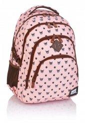 Plecak HEAD w pieski na różowym tle, BULLDOG HD-245 (502019027)