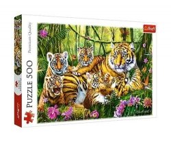 TREFL Puzzle 500 el. Rodzina tygrysów (37350)