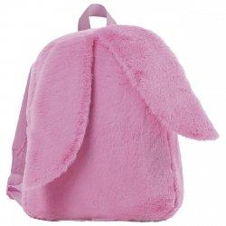 Plecak przedszkolny wycieczkowy z uszami RÓŻOWY (PL12UR)