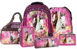 Plecak szkolny I LOVE HORSES Konie (PL15BKO15SET6CZ) ZESTAW 6 el.