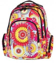Plecak CoolPack SPARK szkolny młodzieżowy w kwiaty HIPPIE 573 (62350)