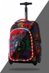Plecak CoolPack JACK LED na kółkach graffiti, AVENGERS (B52307)