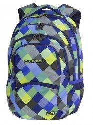 Plecak szkolny młodzieżowy COOLPACK COLLEGE niebiesko zielona krata, BLUE PATCHWORK (81648CP)