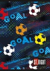 Zeszyt A5 w kolorową linię St.Right 32 kartki GOAL (06290)