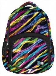 Plecak szkolny młodzieżowy ST.RIGHT w kolorowe smugi, NEW ILLUSION BP23 (17799)