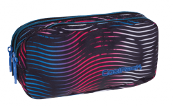 Piórnik trzykomorowy saszetka COOLPACK PRIMUS w kolorowe paski, FLASHING LAVA 947 (70423)