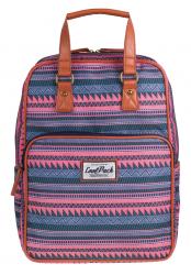 Plecak szkolny młodzieżowy, torebka 2w1 COOLPACK CUBIC w etniczne wzory SAHARA 1032 (72465)