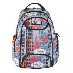 Plecak szkolny, wycieczkowy WELCOME TO NEW YORK, kolorowe miasto PASO (172908UY)