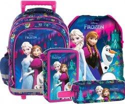 Plecak szkolny na kółkach FROZEN KRAINA LODU, licencja Disney (PL15KKL24SET4CZ) ZESTAW 4 el.