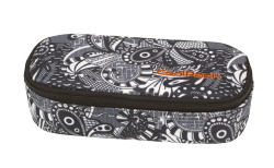Piórnik szkolny COOLPACK CAMPUS czarno białe wzory do kolorowania, BLACK LACE 1076 (80514)