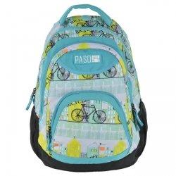 Młodzieżowy plecak szkolny wycieczkowy PASO, turkusowy w rowery BICYLE (172708UF)