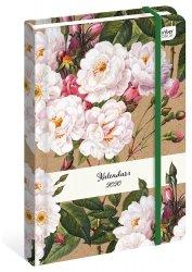 Kalendarz książkowy B6 KWIATY 2020 (73253)
