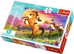TREFL Puzzle 30 el. Duch wolności, Spirit Riding Free (18250)
