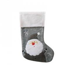 Skarpeta mikołajkowa świąteczna MIKOŁAJ szara Incood. (0111-0011)