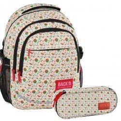 ZESTAW 2 el. Plecak szkolny młodzieżowy BackUP ARBUZY (PLB2G60SET2CZ)